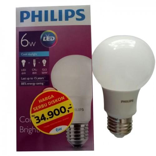 Lampu LED 6 watt Philips