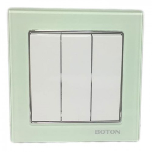 Boton Saklar Triple G9-005 Crystal Glass Series