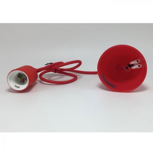Larkin Sophia Fitting E27 Lampu Gantung Warna Warni - Merah