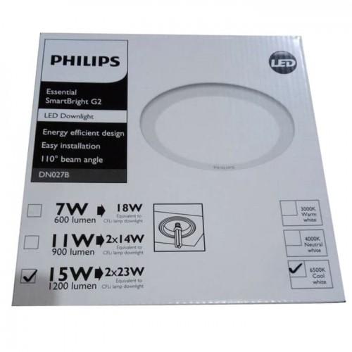 Philips SmartBright G2 LED Downlight DN027B 15W 6500K