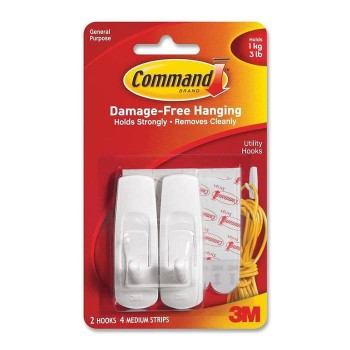 Command Medium 2 Hooks 3M - 17001ANZ