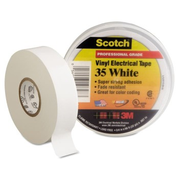 3M Scotch Vinyl Color 35 Electrical Tape - White