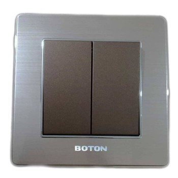 Boton Saklar seri K2-004 2 Gang 1 Way Switch