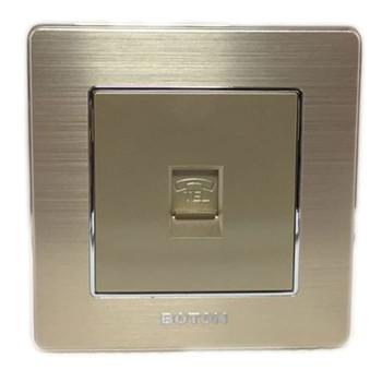 Boton Gold Telephone Socket K2-011