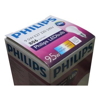 Philips Lampu LED Cool & Warm Dalam Satu Bohlam [9,5 W]