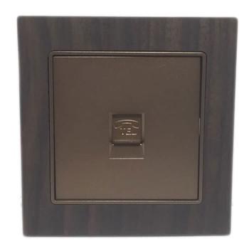Boton Telepon Socket G9-016 Wood