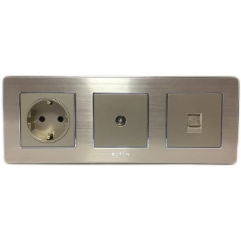 Boton Gold Stop Kontak - TV Socket - Telephone K2