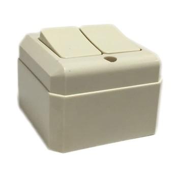 Broco Saklar Seri Persegi Cream Outbow 16220