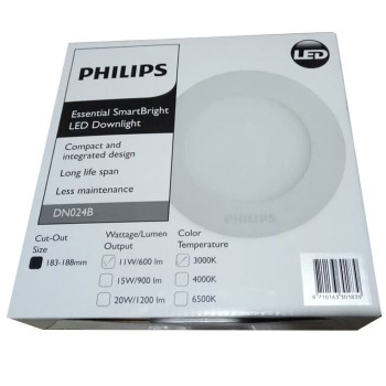 Philips SmartBright LED Downlight DN024B - 11W Warm White - D125