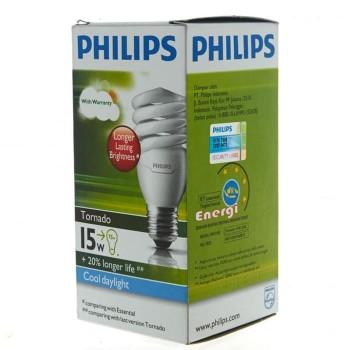 Philips Lampu Tornado 15 Watt - Putih