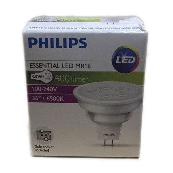 Philips Essential LED MR16 4,5W 36D 6500K
