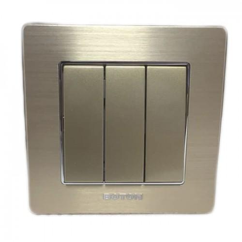 Boton Gold Saklar Triple K2-006