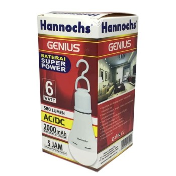 Hannochs Lampu Emergency Genius 6 Watt