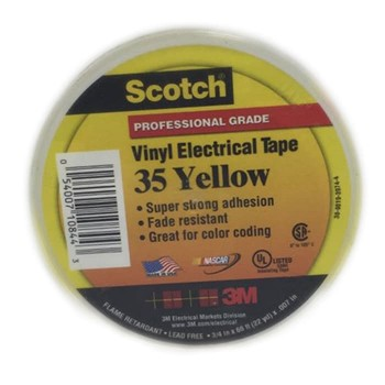 3M Scotch Vinyl Color 35 Electrical Tape - Yellow