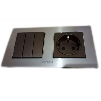 Boton Saklar Triple Dan Stop Kontak Type K2 Series