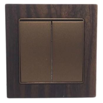 Boton Saklar Seri G9-003-2 Wood
