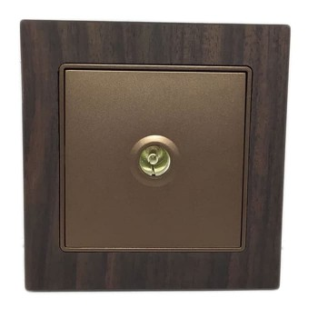 Boton TV Socket G9-014 Wood
