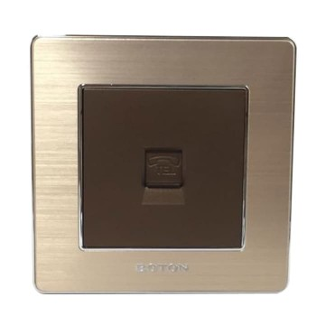 Boton Telphone Socket K2-011 Dark Champagne