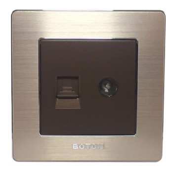 Boton Computer Socket dan TV socket K2 Dark