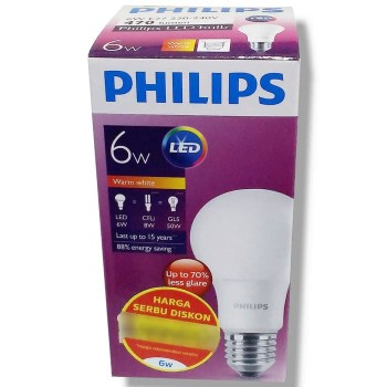 Philips Lampu LED 6 Watt (Warm White / Kuning)