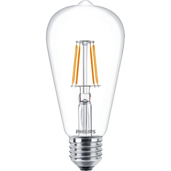 Philips Classic LED Bulb 4-50w ST64 Warm White