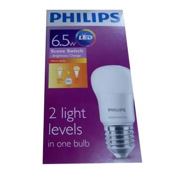Philips LED Scene Switch 6,5 Watt - 2 Step Level Light - Kuning