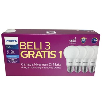 Philips Paket LEDbulb 8 Watt Coolday Light - NEW